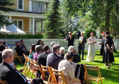 Wedding at the Commissioner's Residence.