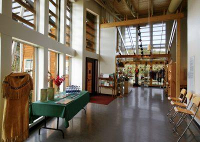 Reception area at Danoja Zho Cultural Centre. Photo credit Yukon Convention Bureau.