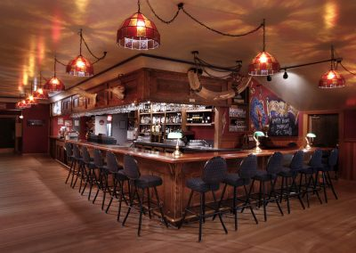 Gertie's bar area. Photo credit Yukon Convention Bureau.