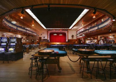 Gertie's view of the stage. Photo credit Yukon Convention Bureau.