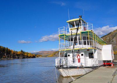 Klondike Spirit at dock. Photo credit Evelyn Pollock.