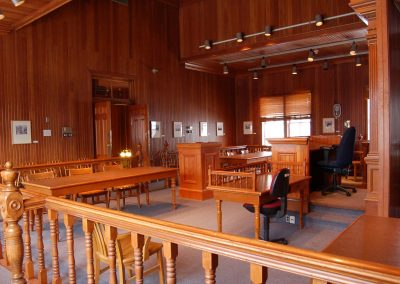 Dawson City Museum Court Room. Photo credit Alexander Somerville.