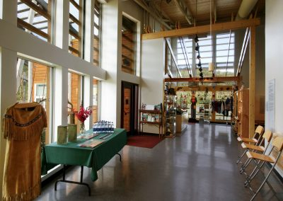 Reception area at Danoja Zho Cultural Centre. Photo credit Yukon Convention Bureau.