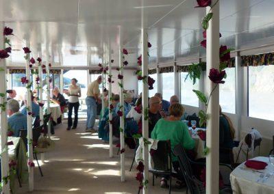 Dinner aboard the Klondike Spirit.