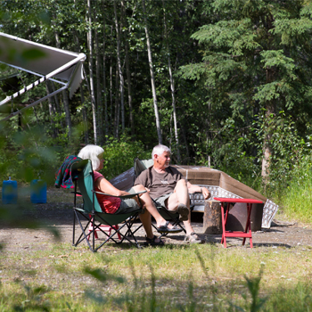 Campers at the Yukon River Campground