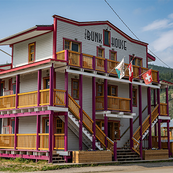 Dawson City Bunkhouse accommodation dorm room hotel budget friendly