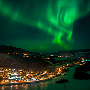 Dawson City Northern Lights Aurora Borealis