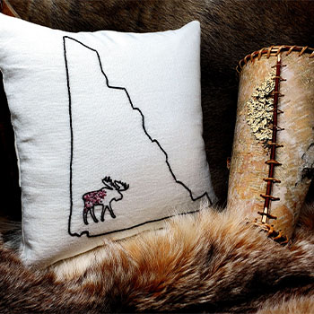 threadsnorth embroidered pillow