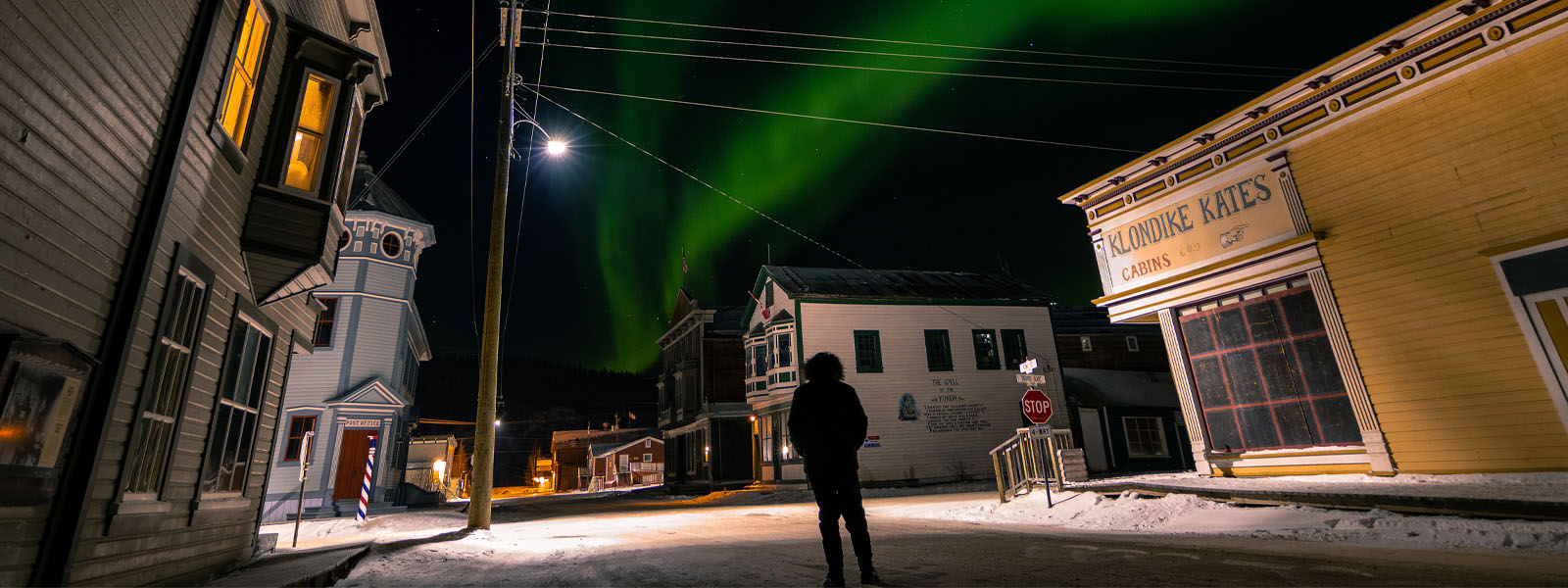 Watching the northern lights in town