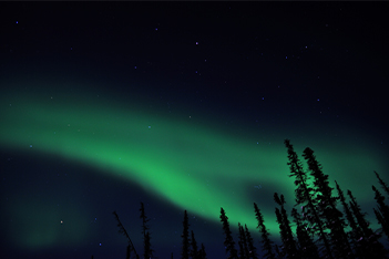 Norther Lights Dawson City Yukon