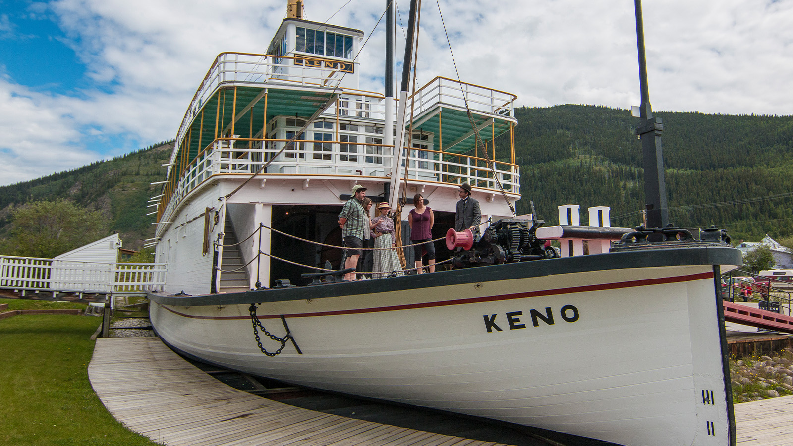 Visitors take a tour on the SS Keno in Dawson City