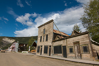 The Kissing Buildings in Dawson City