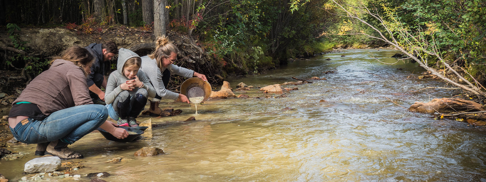 Gold panning at the Free Claim