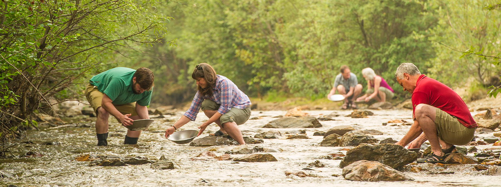 Panning for gold at Free Claim #6